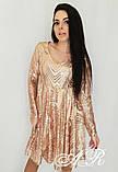 Модное стильное женское вечернее платье из пайетки, фото 5