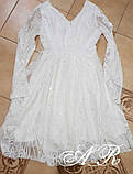 Модное стильное женское вечернее платье из пайетки, фото 7