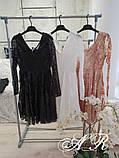 Модное стильное женское вечернее платье из пайетки, фото 8