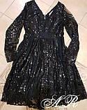 Модное стильное женское вечернее платье из пайетки, фото 9
