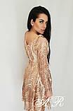 Модное стильное женское вечернее платье из пайетки, фото 10