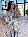 Женское Платье в горошек с оборкой, фото 3
