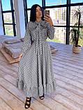 Женское Платье в горошек с оборкой, фото 4