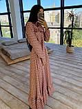 Женское Платье в горошек с оборкой, фото 5