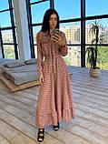Женское Платье в горошек с оборкой, фото 6