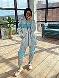 Женский  Костюмчик светоотражающая ветровка + брюки карго, фото 10