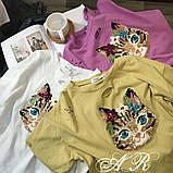 Женская интересная футболка в стиле Casual Киса, фото 3