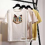 Женская интересная футболка в стиле Casual Киса, фото 5