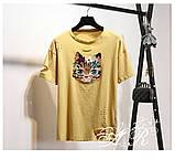 Женская интересная футболка в стиле Casual Киса, фото 6