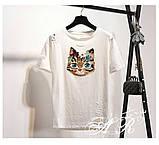 Женская интересная футболка в стиле Casual Киса, фото 7