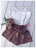 Женский высокие шорты из шелка, фото 6