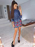 Вышитое платье из джинса, фото 2