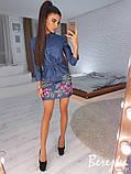 Вышитое платье из джинса, фото 3