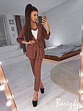 Модный костюм тройка из креп-костюмки, фото 6
