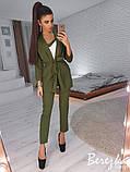Модный костюм тройка из креп-костюмки, фото 7