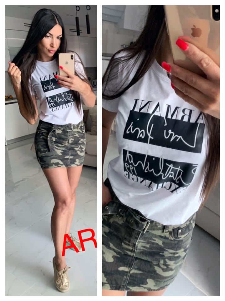 Женская нежная футболка с надписями