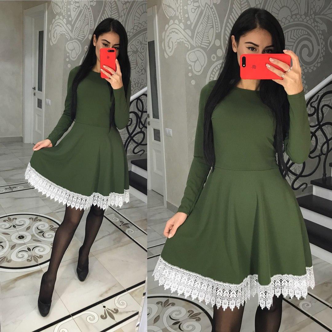 Романтичное платье с итальянским набивным кружевом