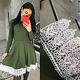 Романтичное платье с итальянским набивным кружевом, фото 2