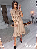 Красивое женское платье с рюшами, фото 6