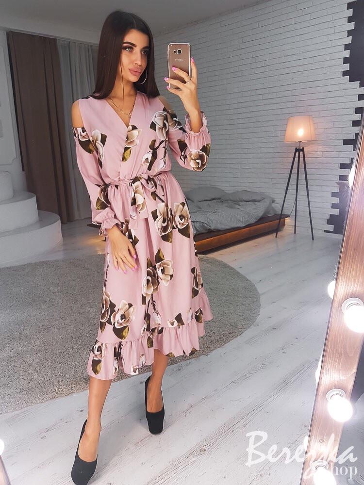Элегантное цветочное платье