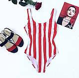 Женский стильный купальник в полосочку, фото 5
