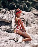 Женский стильный купальник в полосочку, фото 6