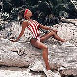 Женский стильный купальник в полосочку, фото 7