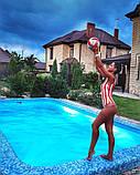 Женский стильный купальник в полосочку, фото 8