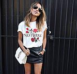 Женская трендовая  футболка с розами, фото 2