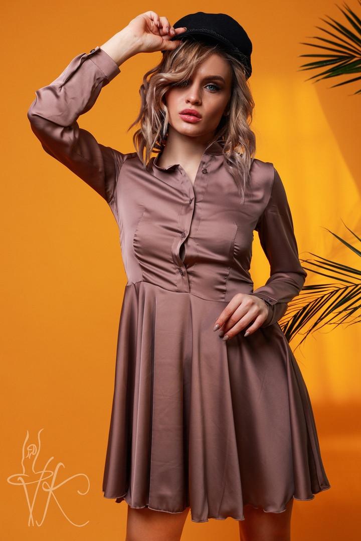 Женское стильное шелковое платье  Н-278