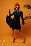 Женское стильное шелковое платье  Н-278, фото 2