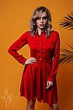 Женское стильное шелковое платье  Н-278, фото 4