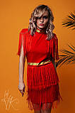 Женское стильное оригинальное платье  Н-482, фото 6