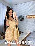 """Мерцающее женское платье """"Baby doll"""", фото 3"""