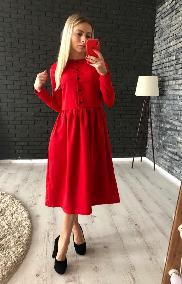 Нежное красивое платье миди