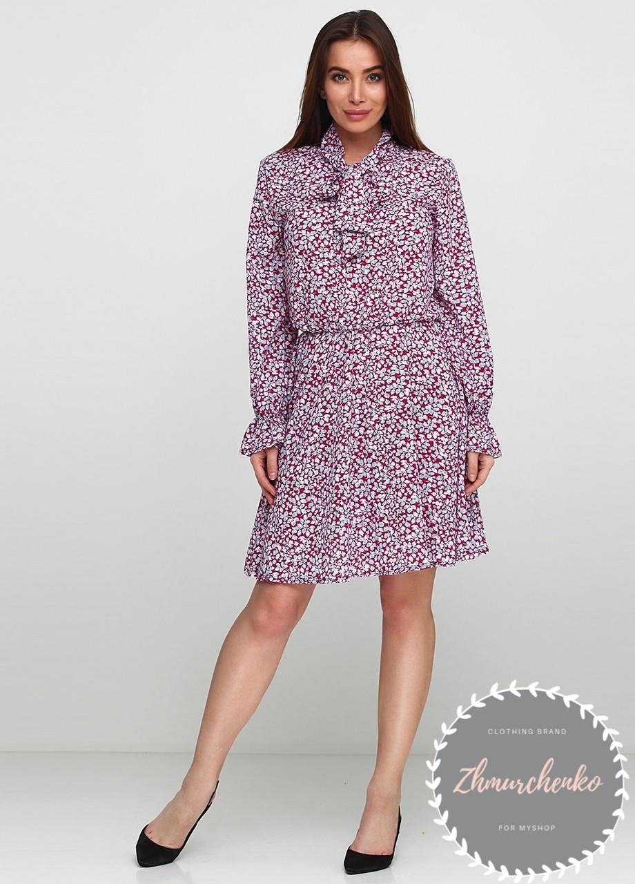 Женское легкое платье в мелкий цветочный принт