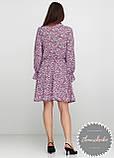 Женское легкое платье в мелкий цветочный принт, фото 2