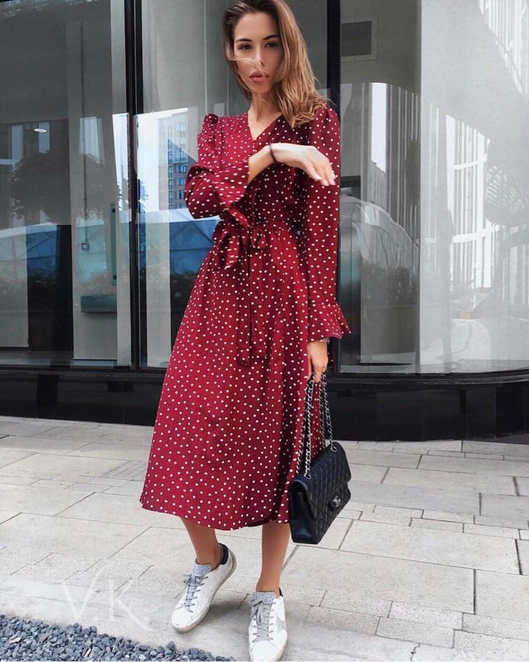 Женское стильное трендовое платье Н-490