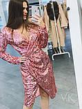 Женское стильное трендовое платье Н-438, фото 3