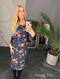 Стильное женское роскошное платье из замша на дайвинге, фото 4