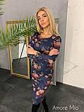 Стильное женское роскошное платье из замша на дайвинге, фото 5