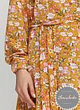Женское легкое нежное  платье миди в мелкий цветочный принт, фото 2
