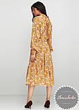 Женское легкое нежное  платье миди в мелкий цветочный принт, фото 4