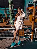 Женское легкое нежное  платье молочное с чокером в цветочный принт, фото 4