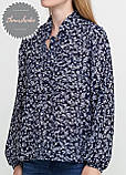 Женская легкая блуза из софта в цветочный принт, фото 3