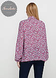 Женская легкая блуза софт в цветочный мелкий принт, фото 2