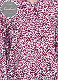 Женская легкая блуза софт в цветочный мелкий принт, фото 3