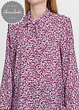 Женская легкая блуза софт в цветочный мелкий принт, фото 4