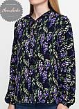 Женская легкая блуза софт в цветочный мелкий принт сирень, фото 2