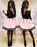 Женское стильное трендовое платье с пышной юбочкой, фото 3